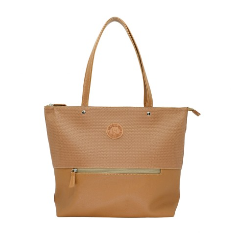 Bolsa Feminina Monica Sanches 3687 Alberta Caramelo / canguru seiva / caramelo